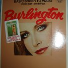 Vintage Burlington SHEER TO WAIST Pantyhose, Medium, Wild Rice