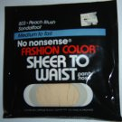Vintage No Nonsense Fashion Color SHEER TO WAIST Pantyhose, Medium to Tall, Peach Blush
