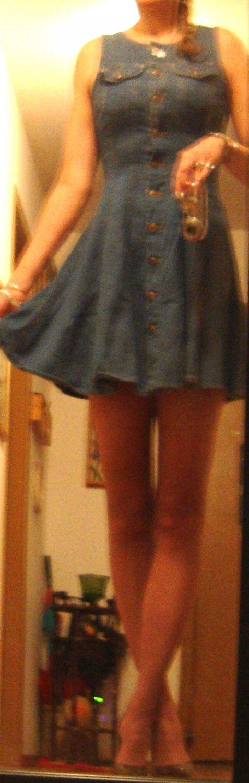 Squeeze Jeans SEXY Mini A-Line Denim Dress! Sz. 9/10 EUC!