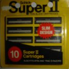SCHICK Super II Twin Blade Cartridges, Pack of 10, Also Fits Atra & Trac II Razors