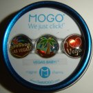 "MOGO Tin Collection ""Vegas Baby"" Las Vegas Themed Magnet Charms, NIP!"
