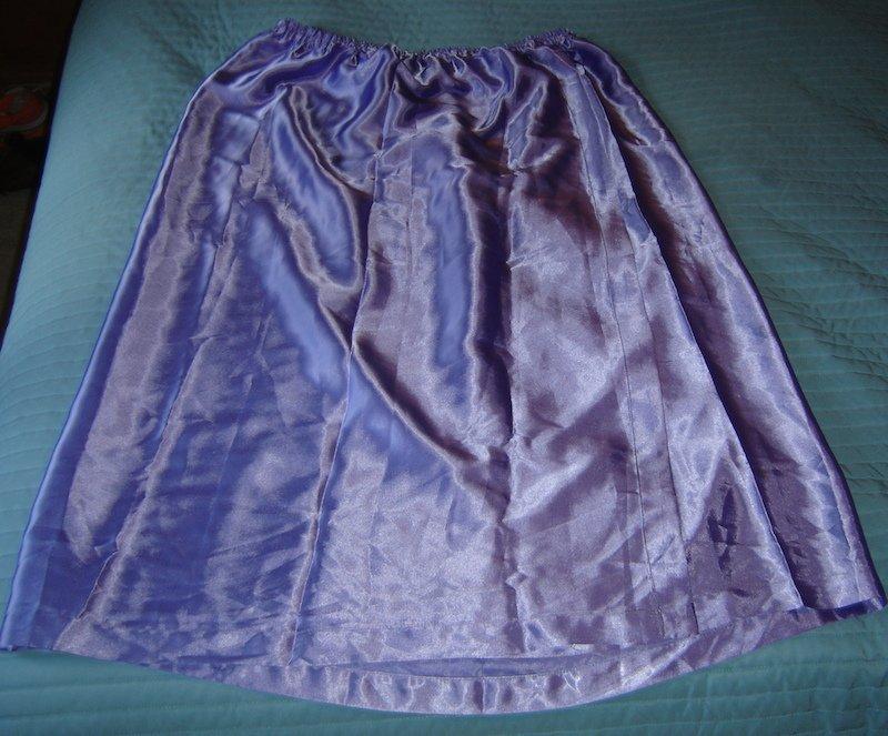 SILKY SATIN Long Purple Half Slip!  Plus Size/Cross-Dresser? XL-XXL, Etc.