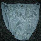 Vtg. Contempo Wedding White SATIN String Bikini Panties!  Sz. M, NWOT