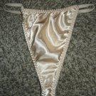 SILKY SATIN String Bikini Panties, XL; EXC!