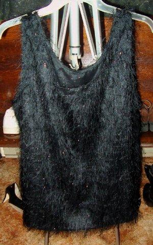 Sheer, Sexy black tank/ sleeveless dressy top sz 18