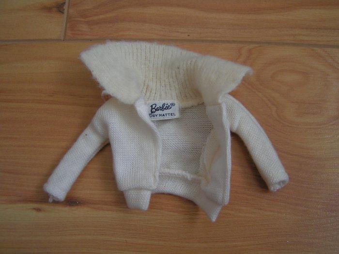 Vintage Barbie White Cardigan Sweater