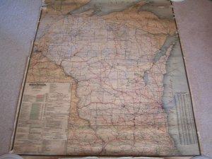 1906 Wisconsin Railroad Map