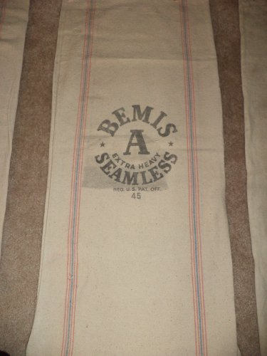 BEMIS A Extra Heavy Seamles Vintage Feed Sack - 45