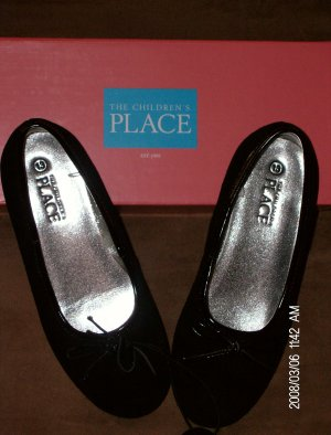 The Children's Place Girl's Slip-On Bow Ballet Flats *NEW* Size 13