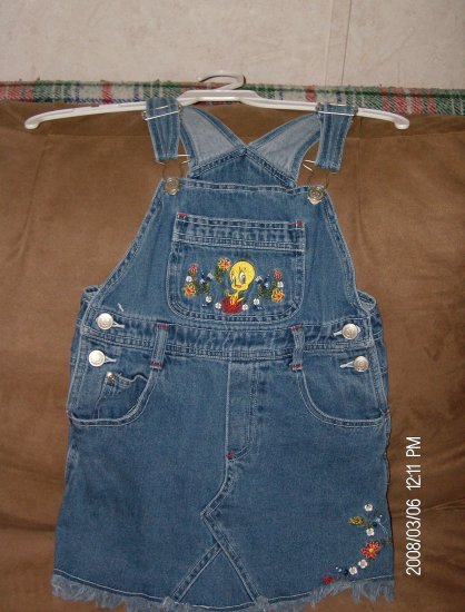 LOONEY TUNES GIRL'S DENIM JUMPER SIZE 6X