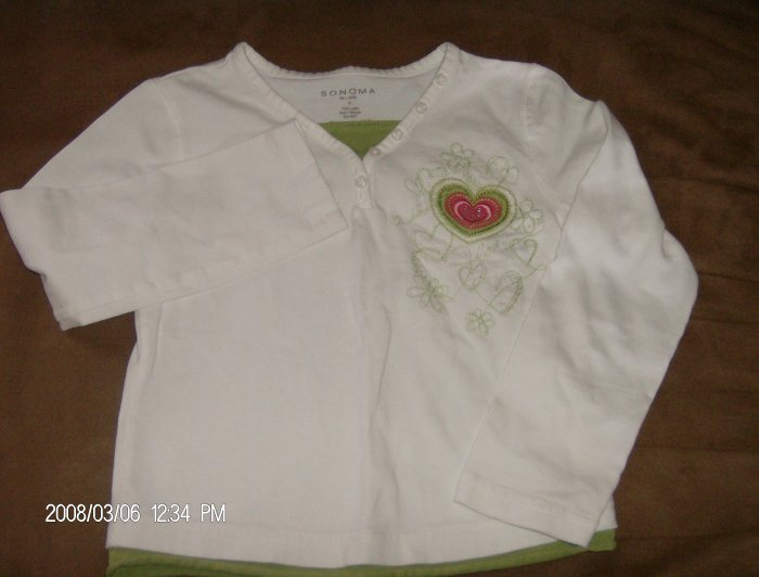 SONOMA GIRL'S LONG SLEEVE TOP SIZE 6