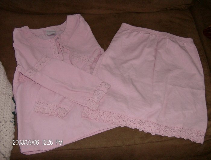 DISNEY KIDS 2-PIECE CORDUROY SKIRT SET SIZE 5T