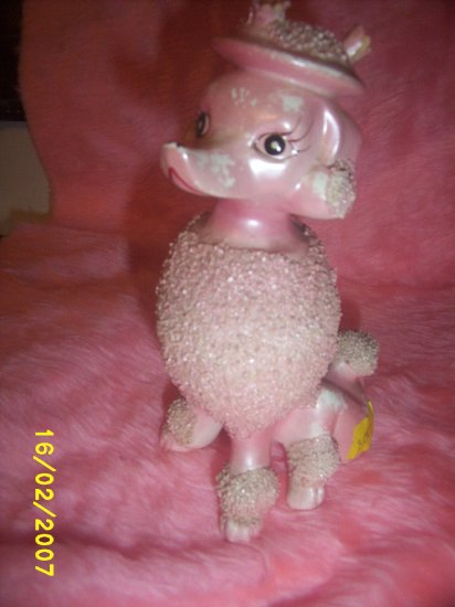 Pink Poodle Dee Bee Co. dogs import hand painted