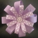 Angela's Accessories Purple Flower Bow