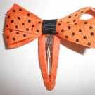 Angela's Accessories Orange with Black Dots Clip: 15% off!!