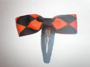 Angela's Accessories Halloween Checked Snap Clip: 15% off!!