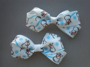 Angela's Accessories Snowman Classic Bows