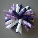 Angela's Accessories Big Purple Korker Bow