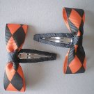 Angela's Accessories Halloween Checkered Snap Clips: 15% off