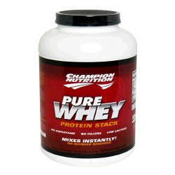 Champion Nutrition Pure Whey Protein Stack - Chocolate - 5lbs.