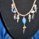 Silver Blue Allure Necklace