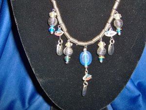 Silver Blue Allure Necklace