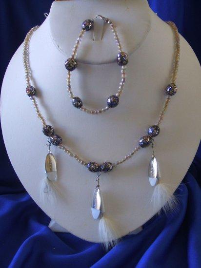 Iridescent Glitter Allure Necklace