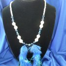 Blue Marabou Allure Necklace
