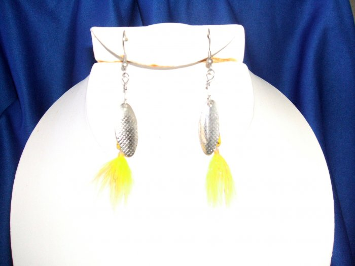 Yellow Rooster Tail Allure Earrings