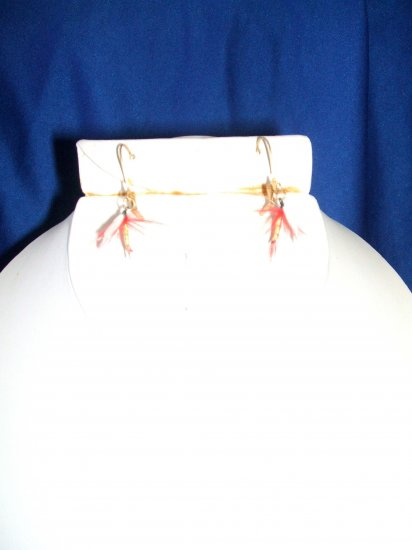 Red Mosquito Fly Earrings