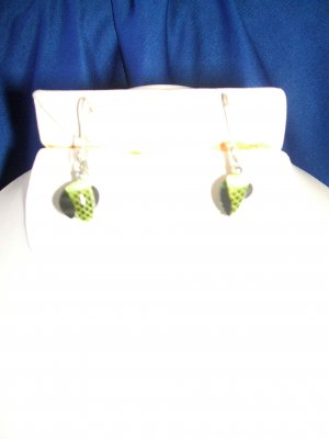 Green Spin & Glo Earrings
