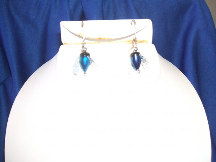 Blue Spin & Glo Earrings