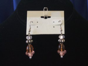 Pleasant Peach Drop Earrings