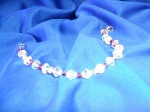 Aurora & Plum Bicone Bracelet