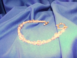 Smoky Quartz Swarovski Bracelet