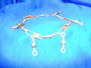 Gold Swivel Charm Bracelet