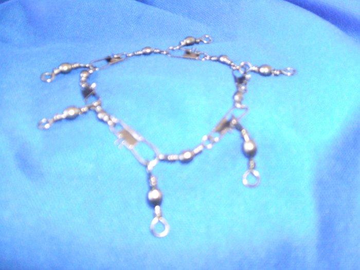 Black Swivel Charm Bracelet