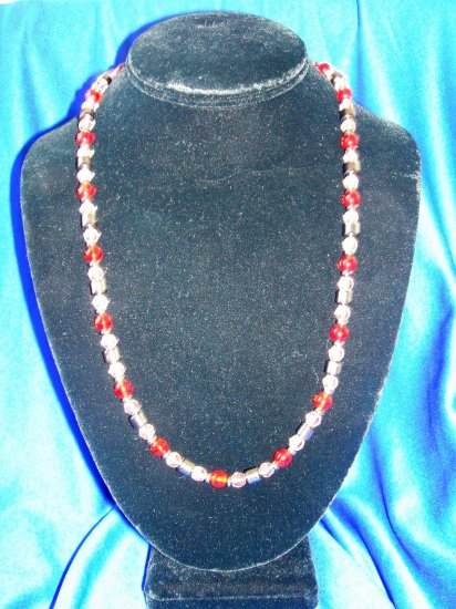 Ruby/Pink Magnetic Necklace