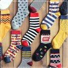 1x Lot Mens Designer Fashion Dress Sport Casual  Socks New Stripe Argyle Color