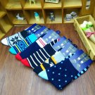 winter 5 Pairs lot Fashion Men's Dress Stripe Multi-Color Socks New Hot Cheap