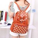 Girl  Leather Backpack School Rucksack Shoulder Bag Women Travel Satchel Handbag