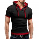 2016 New Fashion Men's Stylish Slim Fit Short Sleeve Polo Shirts T-shirt Hooded