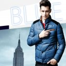2015 New Men's Winter Coat Fashion Thick Padded Collar Coat Slim Jacket outerwea