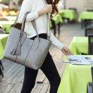 Fashion Lady Women Leather Handbag Tassel Shoulder Tote Purse Messenger Bag 2016