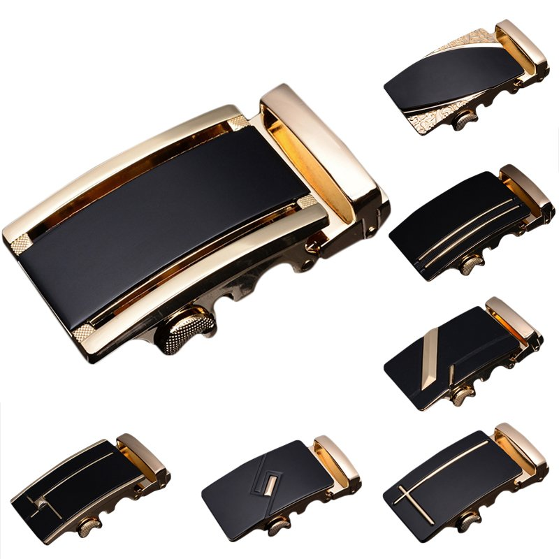 Luxury Leather Men's Automatic Buckle Fashion NO Waist Strap Belt Buckle Superb