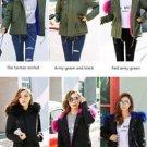 New Women Brave Soul Oversized Hood Coloured Pink Blue Fur Parka Jacket Coat