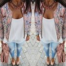 Fashion Womens Long Sleeve Floral Casual Blazer Suit Casual Jacket Outwear 2016