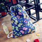 Women Canvas Drawstring Travel  Shoulder Bag Backpack School Rucksack New Unique