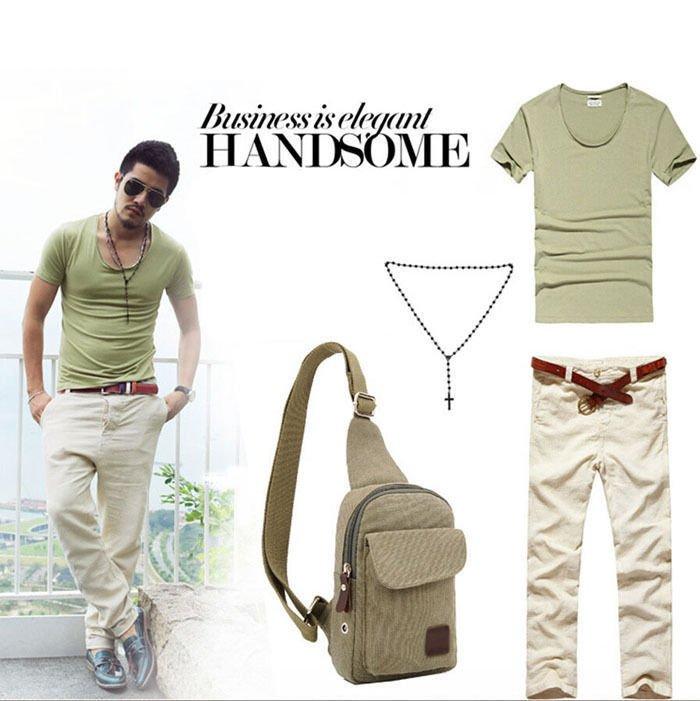 Men's Vintage Canvas Leather Satchel School Military Messenger Shoulder Bag Best