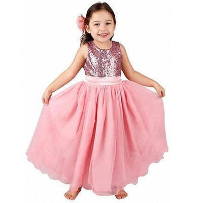 Fashion Girl Dress Birthday Wedding Formal Pageant Recital Graduation Bridesmaid